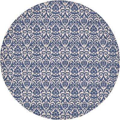 Alcera Blue Area Rug Rug Size: Round 8
