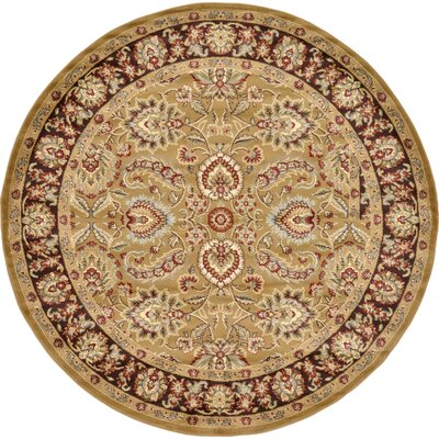 Fairmount Tan Area Rug Rug Size: Round 8