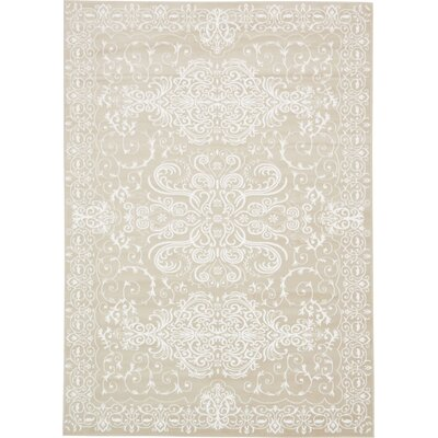 Mathieu Beige Area Rug Rug Size: Rectangle 4 x 6