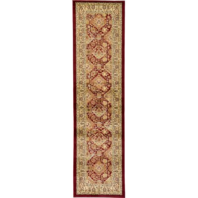 Fairmount Red Oriental Area Rug Rug Size: Runner 27 x 10