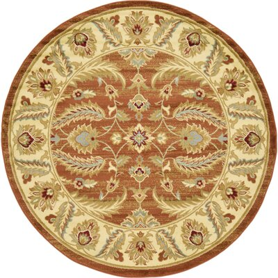 Fairmount Brick Red Area Rug Rug Size: Rectangle 7 x 10
