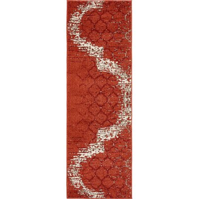 Steinbeck Terracotta Area Rug Rug Size: Rectangle 5 x 8