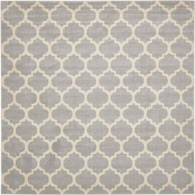 Moore Gray Area Rug Rug Size: Square 10'