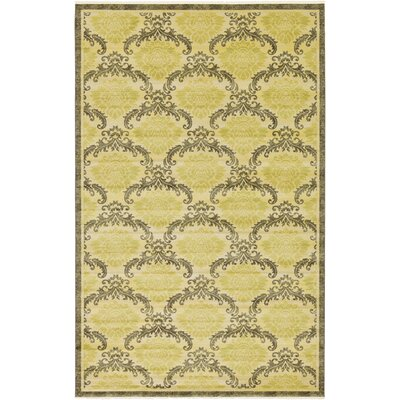 Ascencio Cream/Brown Area Rug Rug Size: Rectangle 106 x 165