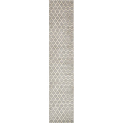 Moore Gray Area Rug Rug Size: Runner 27 x 13