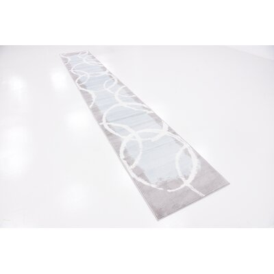 Sidney Light Blue Area Rug Rug Size: Runner 2 x 13