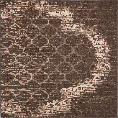 Steinbeck Brown Area Rug Rug Size: Square 8