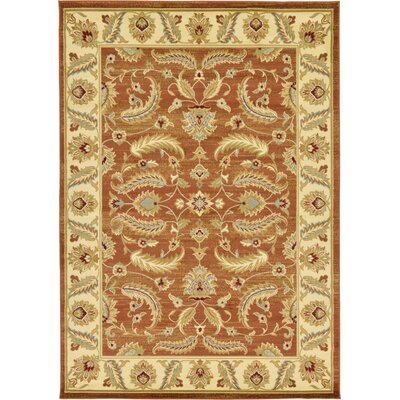 Fairmount Brick Red Area Rug Rug Size: 7 x 10