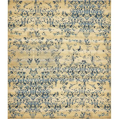 Eris Floral and Plants Beige Indoor/Outdoor Area Rug Rug Size: Rectangle 8 x 11