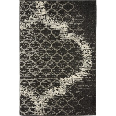 Steinbeck Charcoal Gray Area Rug Rug Size: 4 x 6