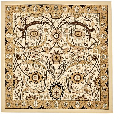 Antoinette Ivory Area Rug Rug Size: Square 8