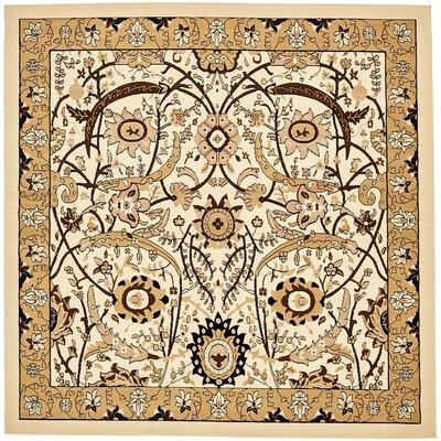 Britannia Ivory Area Rug Rug Size: Square 8