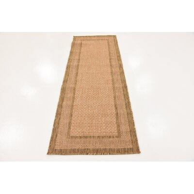 Naples Light Brown Outdoor Area Rug Rug Size: Rectangle 33 x 5