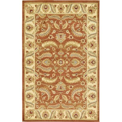 Fairmount Brick Red Area Rug Rug Size: 5 x 8