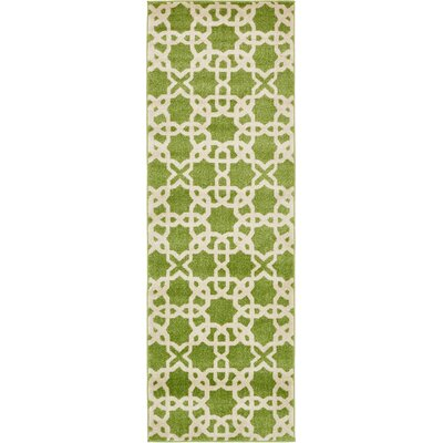 Moore Green Area Rug Rug Size: Rectangle 26 x 8