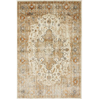 Sepe Beige Area Rug Rug Size: Rectangle 2' x 3'