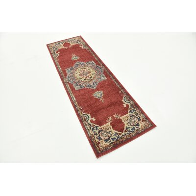 Dulin Terracotta Area Rug Rug Size: Rectangle 9 x 12