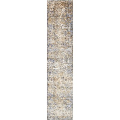 Koury Light Blue/Beige Area Rug Rug Size: Runner 27 x 122