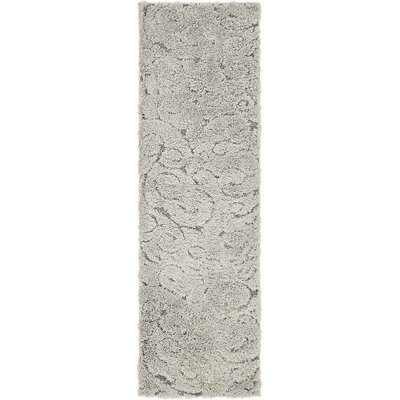 Kennon Floral Gray Area Rug Rug Size: Runner 2 x 67