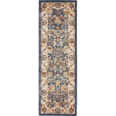 Nathanson Light Blue Area Rug Rug Size: Runner 2 x 6