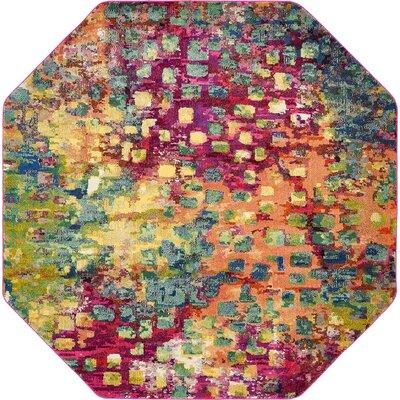 Massaoud Multicolor Area Rug Rug Size: Octagonal 8