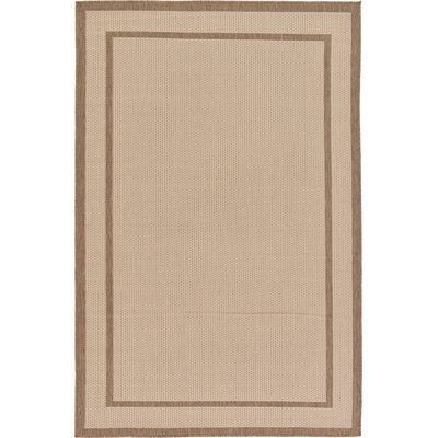 Salsbury Beige Outdoor Area Rug Rug Size: Rectangle 53 x 8