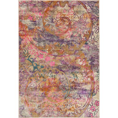 Charlena Abstract Area Rug Rug Size: Round 6