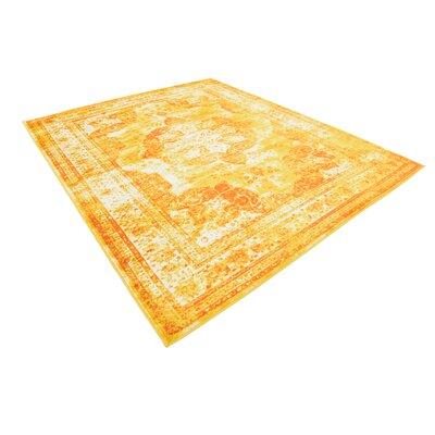 Brandt Yellow/Orange Area Rug Rug Size: Rectangle 8 x 10