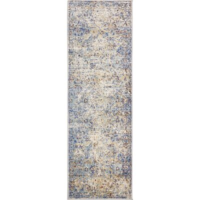 Koury Light Blue/Beige Area Rug Rug Size: Runner 22 x 67