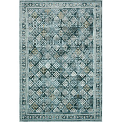 Miara Dark Blue Area Rug Rug Size: Rectangle 7 x 10