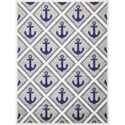 East Boothbay Gray Area Rug Rug Size: Rectangle 8 x 10