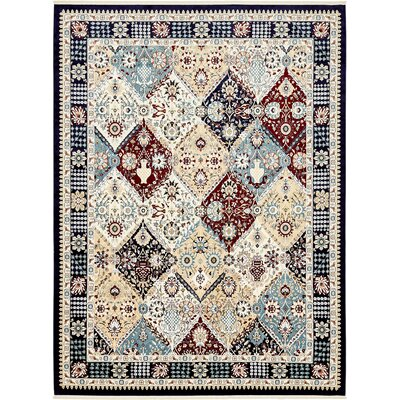 Jadyn Navy Blue Area Rug Rug Size: Rectangle 10 x 13