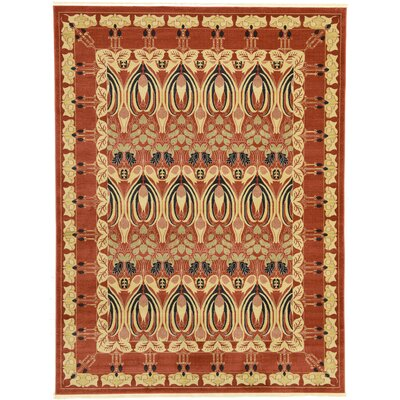 Sebou Rust Red Area Rug Rug Size: 33 x 53
