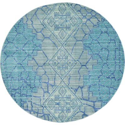 Rune Blue Area Rug Rug Size: Rectangle 8 x 10