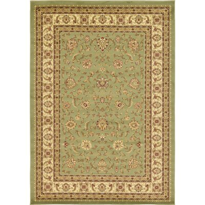 Niles Light Green Area Rug Rug Size: 7 x 10