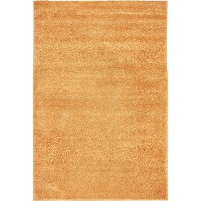 Truett Orange Area Rug Rug Size: Round 8