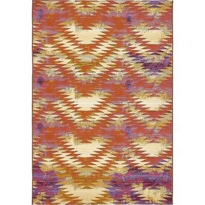 Avina Red Indoor/Outdoor Area Rug Rug Size: Rectangle 53 x 8
