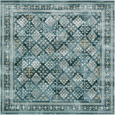 Miara Dark Blue Area Rug Rug Size: Square 6