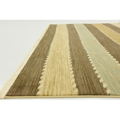 Langham Brown Area Rug Rug Size: 53 x 77