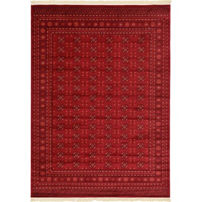Kowloon Dark Red Area Rug Rug Size: 8 x 11