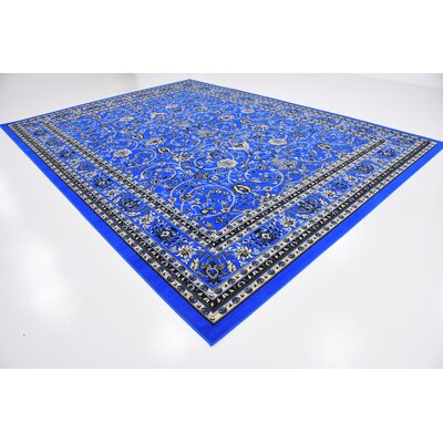 Jeanelle Dark Blue Area Rug Rug Size: Rectangle 910 x 13