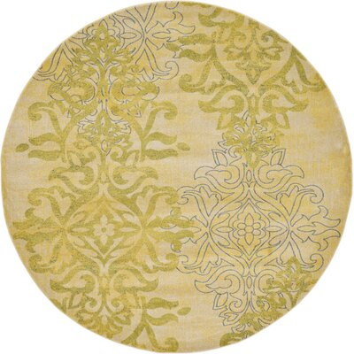 Baytown Cream Area Rug Rug Size: Round 8