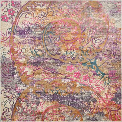 Charlena Abstract Area Rug Rug Size: Square 8