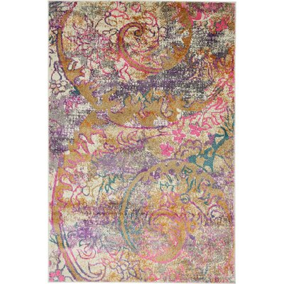 Charlena Abstract Area Rug Rug Size: Rectangle 4 x 6