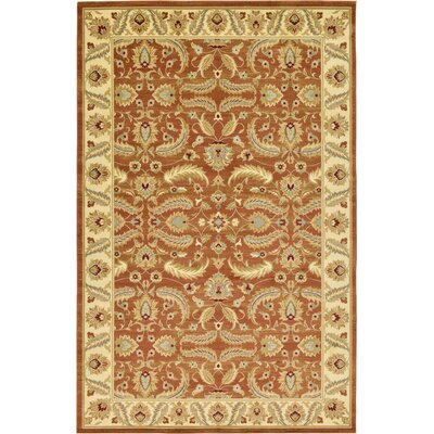 Fairmount Brick Red Area Rug Rug Size: 106 x 165