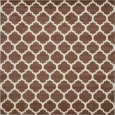 Emjay Light Brown Area Rug Rug Size: Square 8