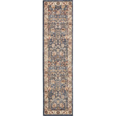 Nathanson Light Blue Area Rug Rug Size: Runner 27 x 10