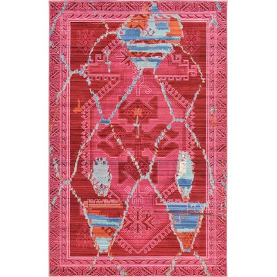 Rune Magenta Area Rug Rug Size: Rectangle 8 x 10