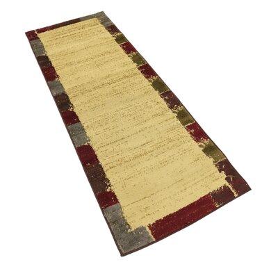 Jaidan Cream Area Rug Rug Size: Runner 22 x 6