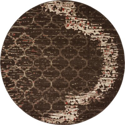 Steinbeck Brown Area Rug Rug Size: Round 6